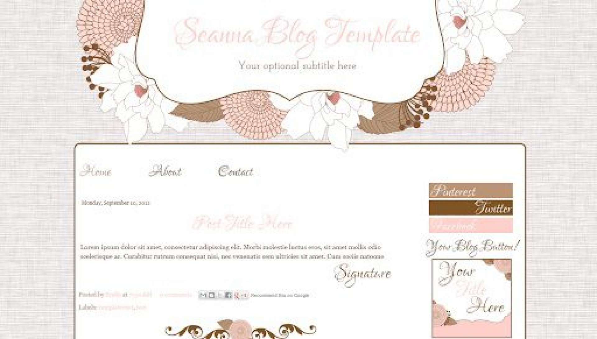 009 Impressive Free Cute Blogger Template Concept  Templates1920