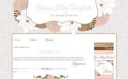 009 Impressive Free Cute Blogger Template Concept  Templates
