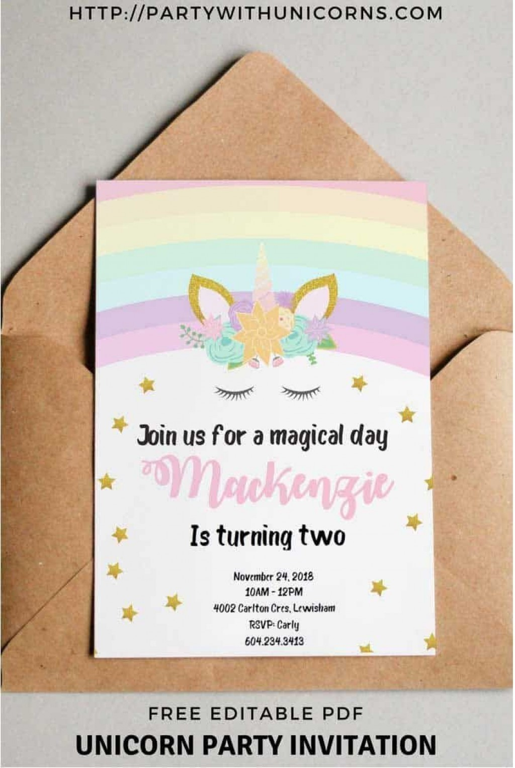 009 Impressive Free Online Birthday Invitation Card Maker With Name And Photo Concept Large