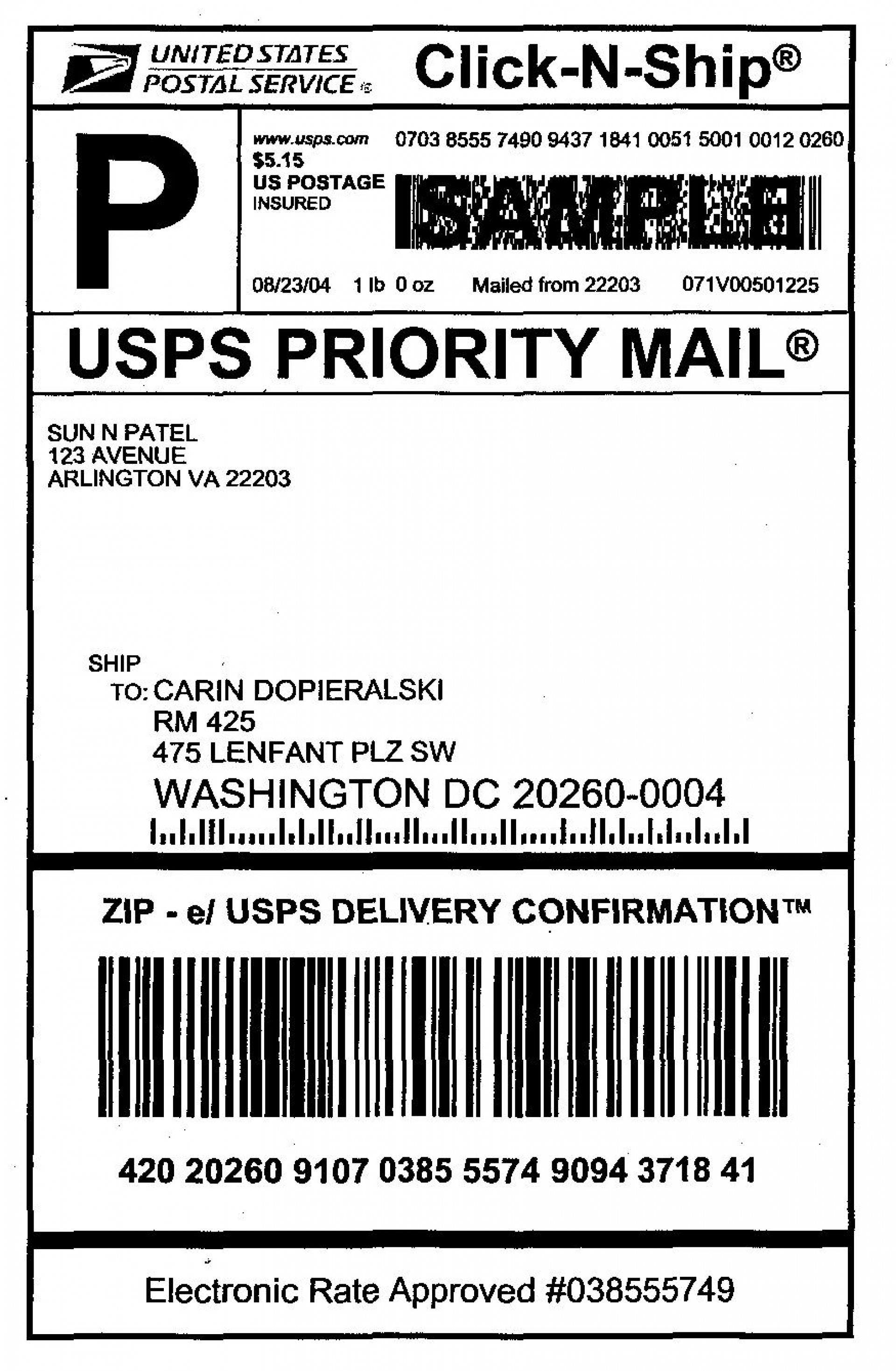 009 Impressive Free Usp Shipping Label Template Sample 1920