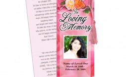 009 Impressive In Loving Memory Bookmark Template Free Download Sample
