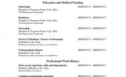 009 Impressive Medical Curriculum Vitae Template Sample  Templates Word Student