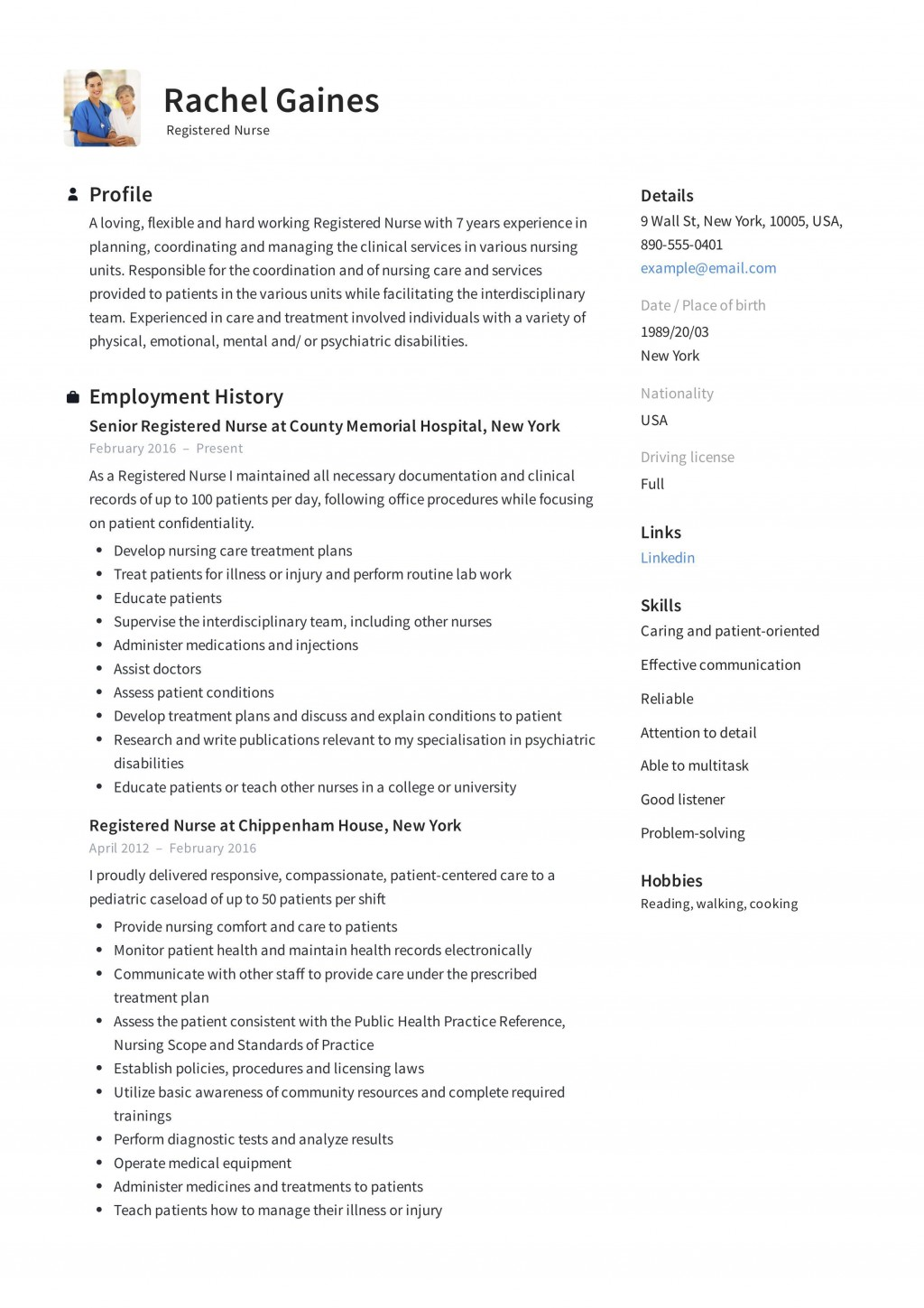 009 Impressive New Rn Resume Template High Resolution Large