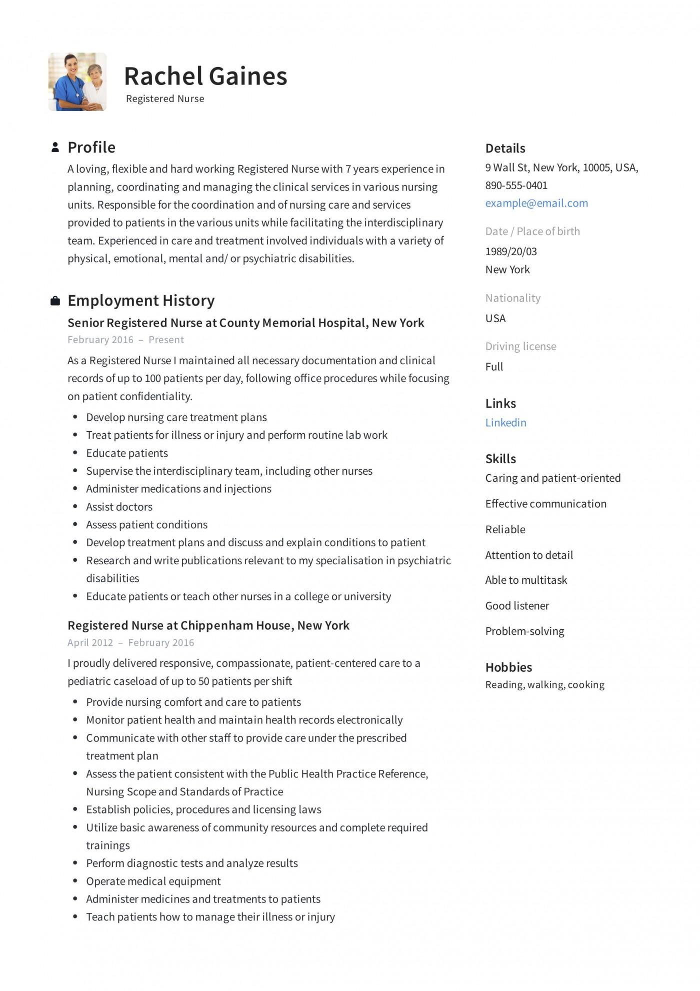 009 Impressive New Rn Resume Template High Resolution 1400
