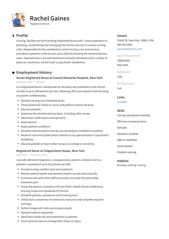009 Impressive New Rn Resume Template High Resolution 1920