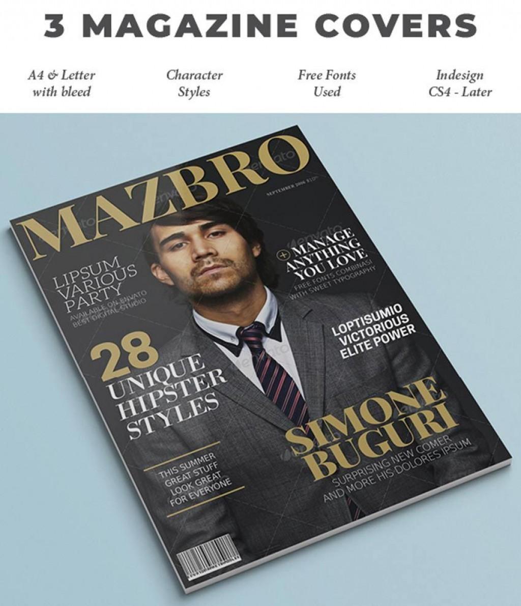 009 Impressive Photoshop Fashion Magazine Cover Template Free Example Large