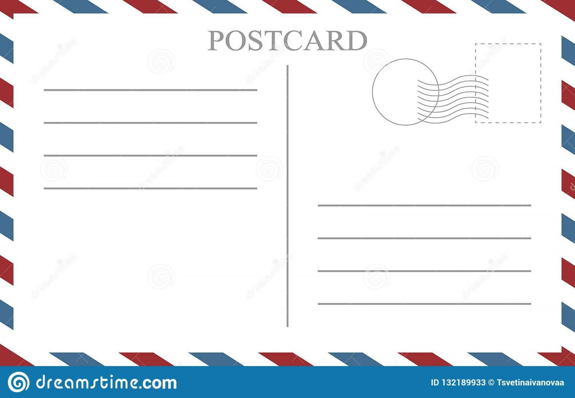 009 Impressive Postcard Front And Back Template Free Sample  To School1920