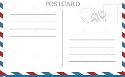 009 Impressive Postcard Front And Back Template Free Sample  To School