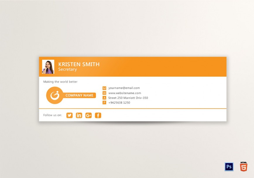 009 Impressive Professional Email Signature Template Highest Quality  Free Html Download868