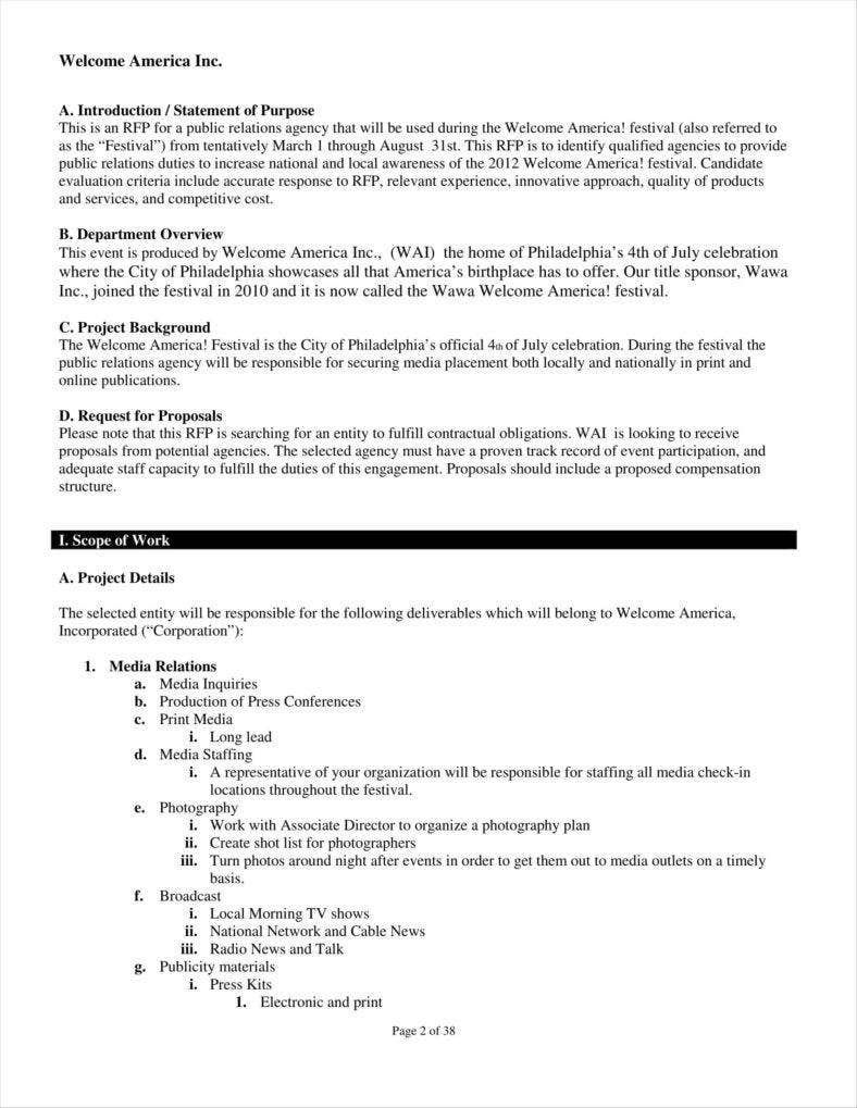 009 Impressive Public Relation Proposal Example Highest Clarity  ExamplesFull