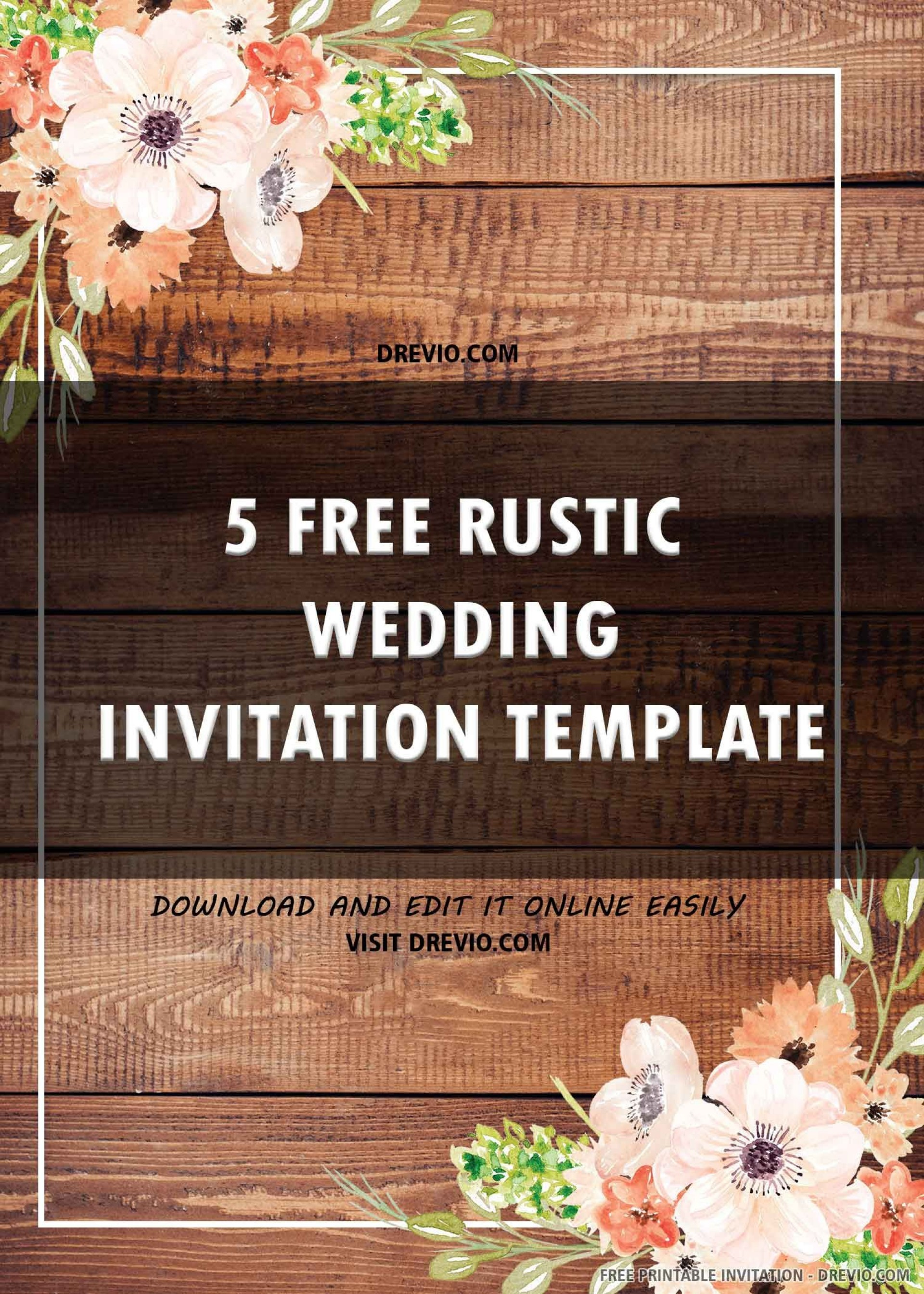 009 Impressive Rustic Wedding Invitation Template Example  Templates Free For Word Maker Photoshop1920