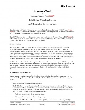 009 Impressive Sample Statement Of Work Consulting Service Highest Quality 360