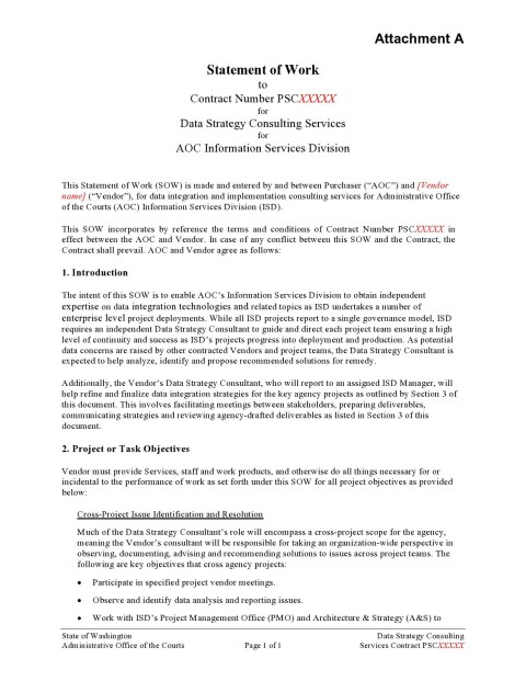 009 Impressive Sample Statement Of Work Consulting Service Highest Quality 480