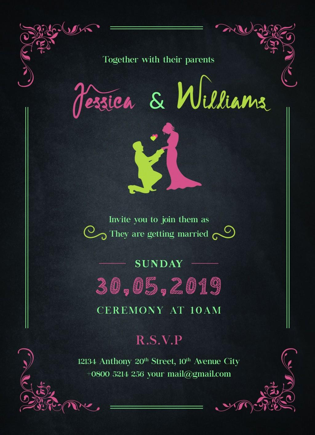 009 Impressive Sample Wedding Invitation Template Free Download Concept  WordingLarge