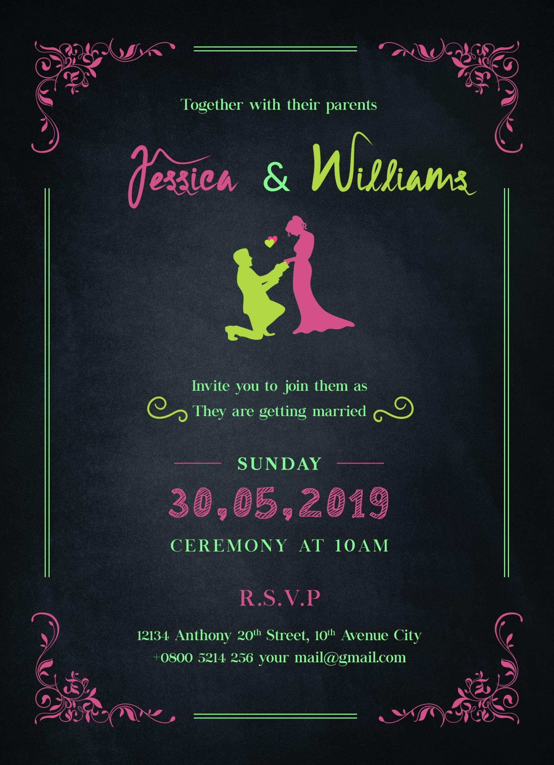 009 Impressive Sample Wedding Invitation Template Free Download Concept  Wording1920