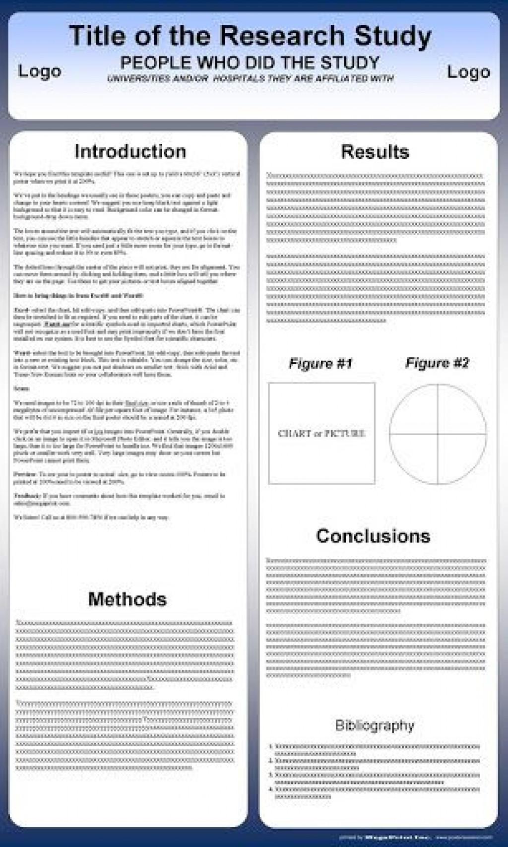 009 Impressive Scientific Poster Design Template Free Download Example Large
