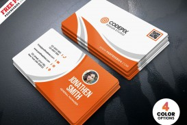 009 Impressive Simple Visiting Card Design Concept  Calling Busines Template Free In Photoshop