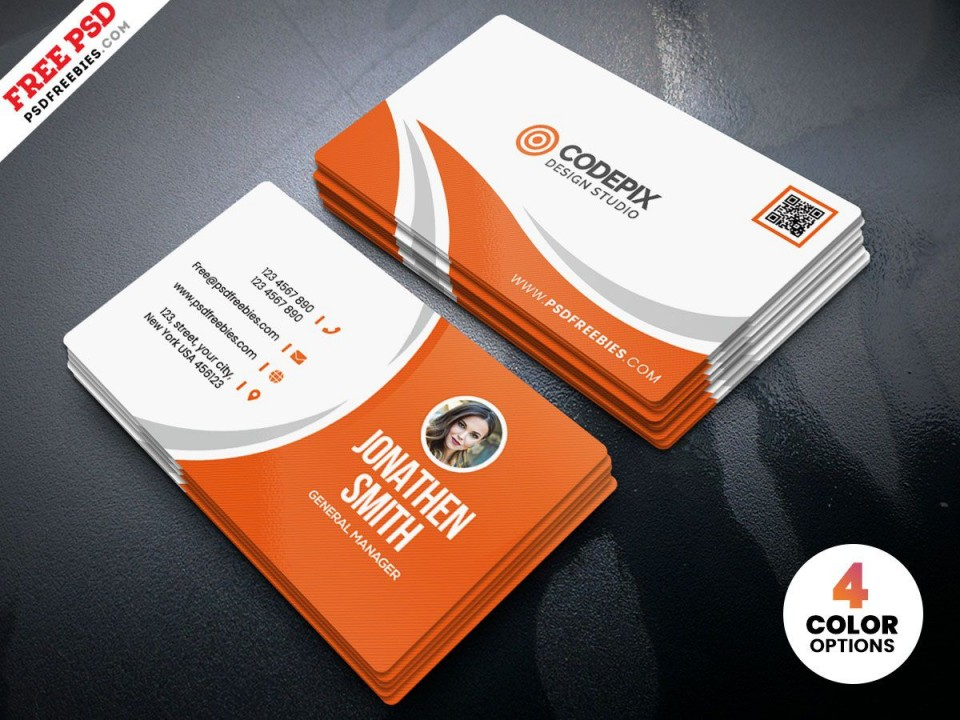 009 Impressive Simple Visiting Card Design Concept  Calling Busines Template Free In Photoshop960
