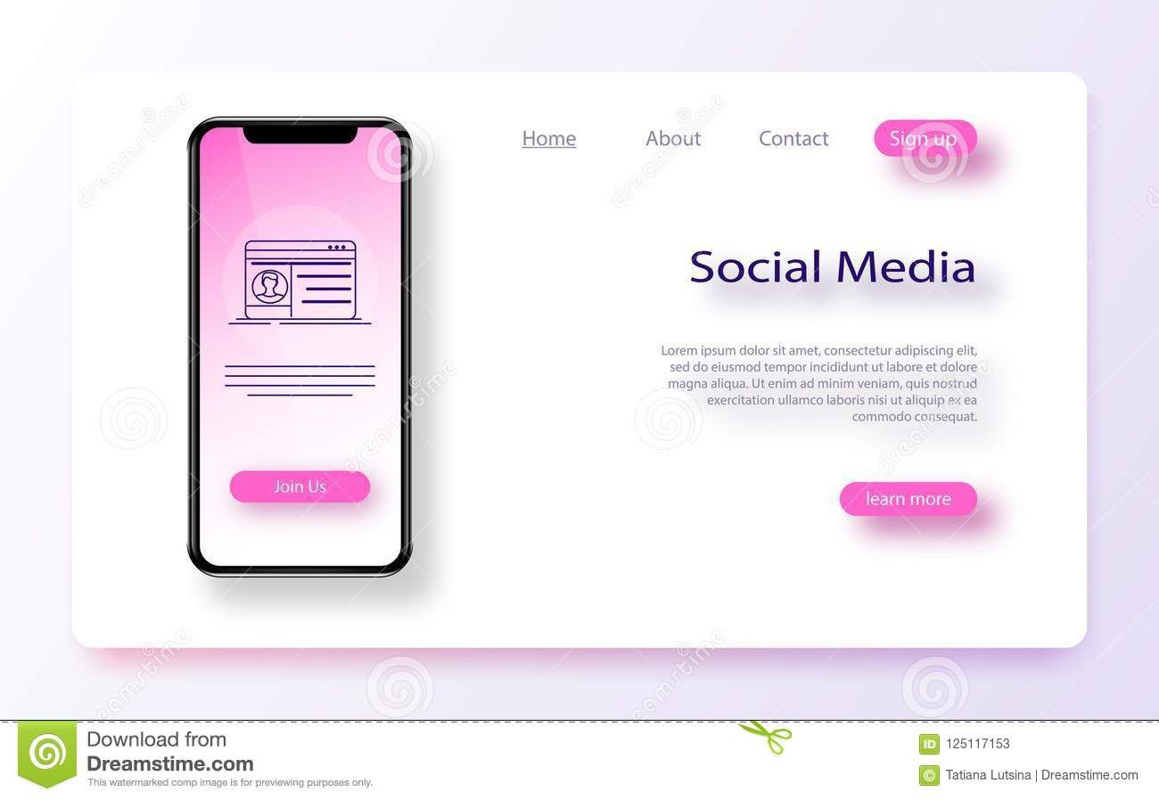 009 Impressive Social Media Web Template Example  Templates Best Website Free DownloadFull