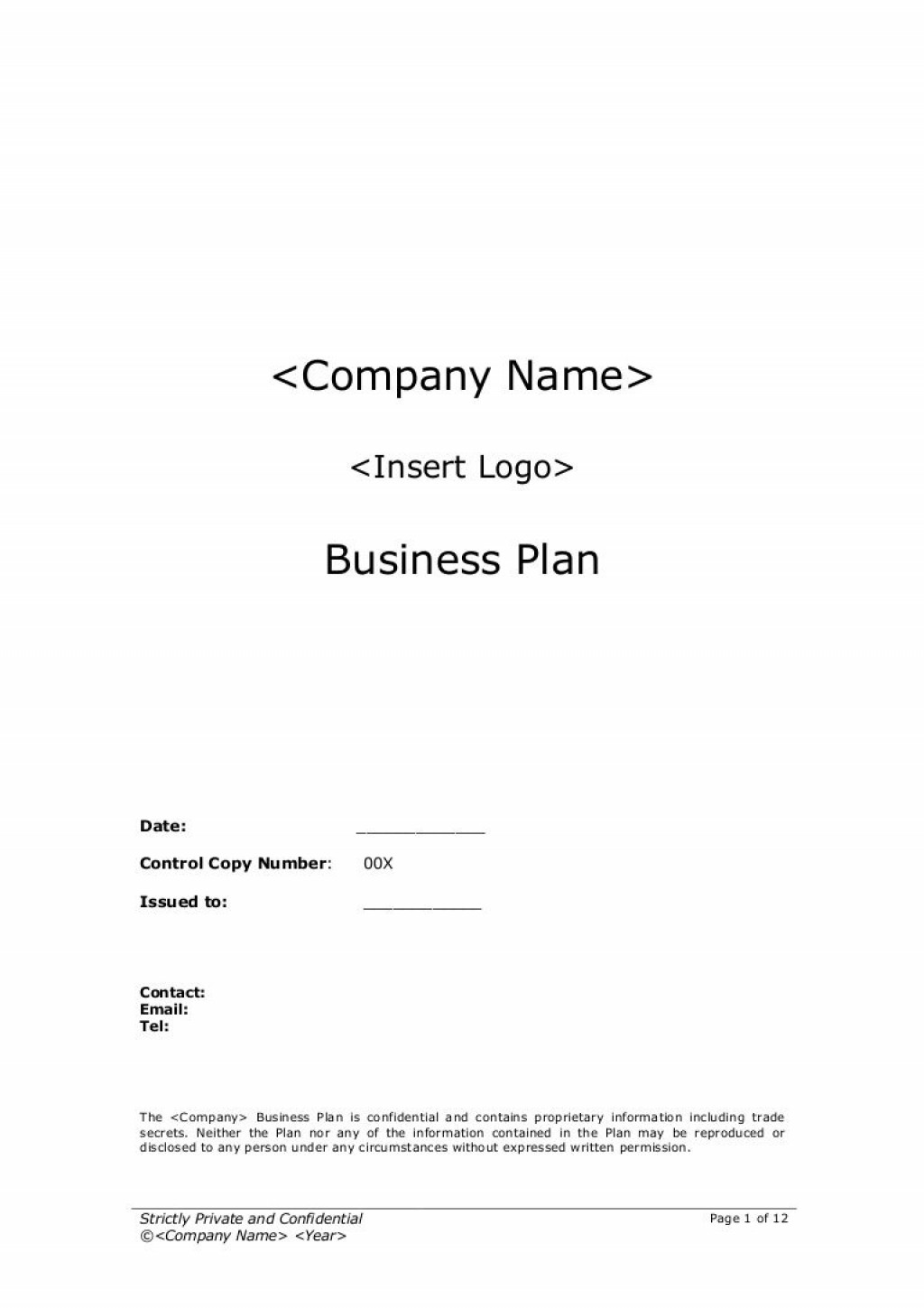 009 Impressive Startup Busines Plan Template Photo  Free Download DocLarge