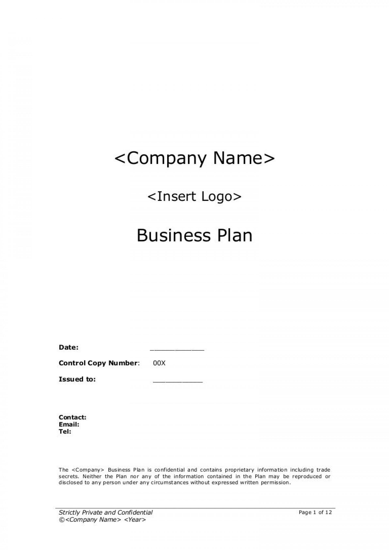 009 Impressive Startup Busines Plan Template Photo  Free Download Doc1920