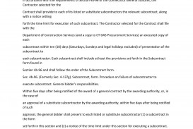009 Impressive Subcontractor Contract Template Free High Def  Uk