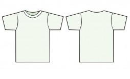009 Impressive T Shirt Template Vector Idea  Black Front And Back Free Download Illustrator