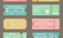 009 Impressive Vintage Concert Ticket Template Free Download Image