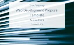 009 Impressive Website Development Proposal Template Free Design  Word