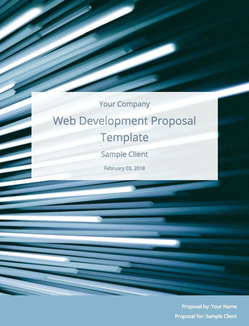009 Impressive Website Development Proposal Template Free Design  WordFull