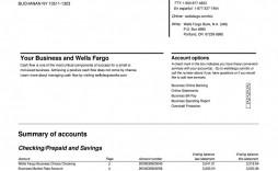 009 Impressive Well Fargo Bank Statement Template Design  Fillable Editable