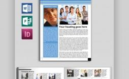 009 Impressive Word Newsletter Template Free Download Design  Document M 2007