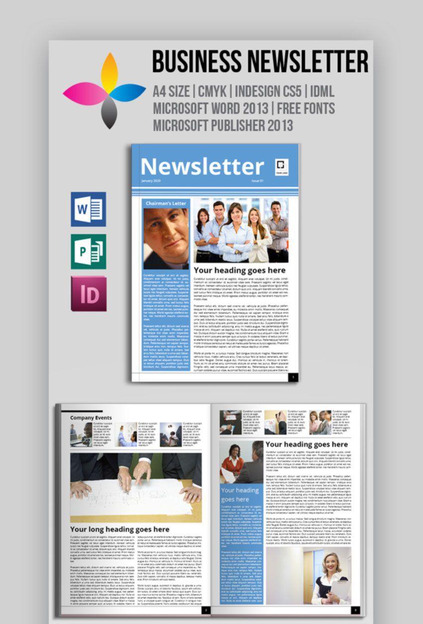 009 Impressive Word Newsletter Template Free Download Design  Document M 2007Full