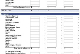 009 Incredible Basic Profit And Los Template Picture  Free Simple Form Statement Excel For Self Employed
