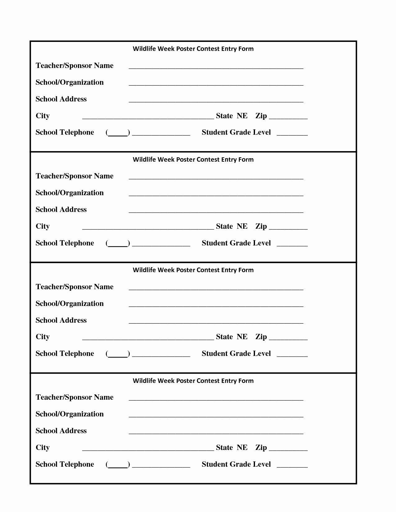 009 Incredible Entry Form Template Word Photo  Raffle Data MicrosoftFull