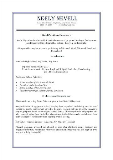 009 Incredible First Time Resume Template High Def  Job Seeker Teenage Sample For TeenagerFull