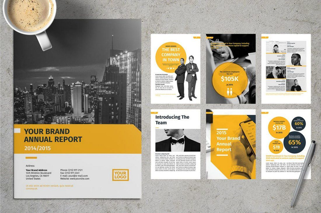 009 Incredible Free Annual Report Template Indesign High Def  Adobe Non ProfitFull