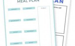 009 Incredible Free Meal Planner Template Pdf Sample  Weekly With Grocery List Monthly