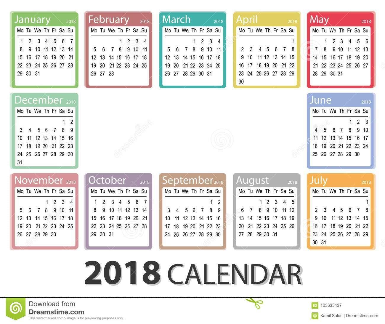 009 Incredible Free Printable Weekly Calendar Template 2018 High Resolution Full