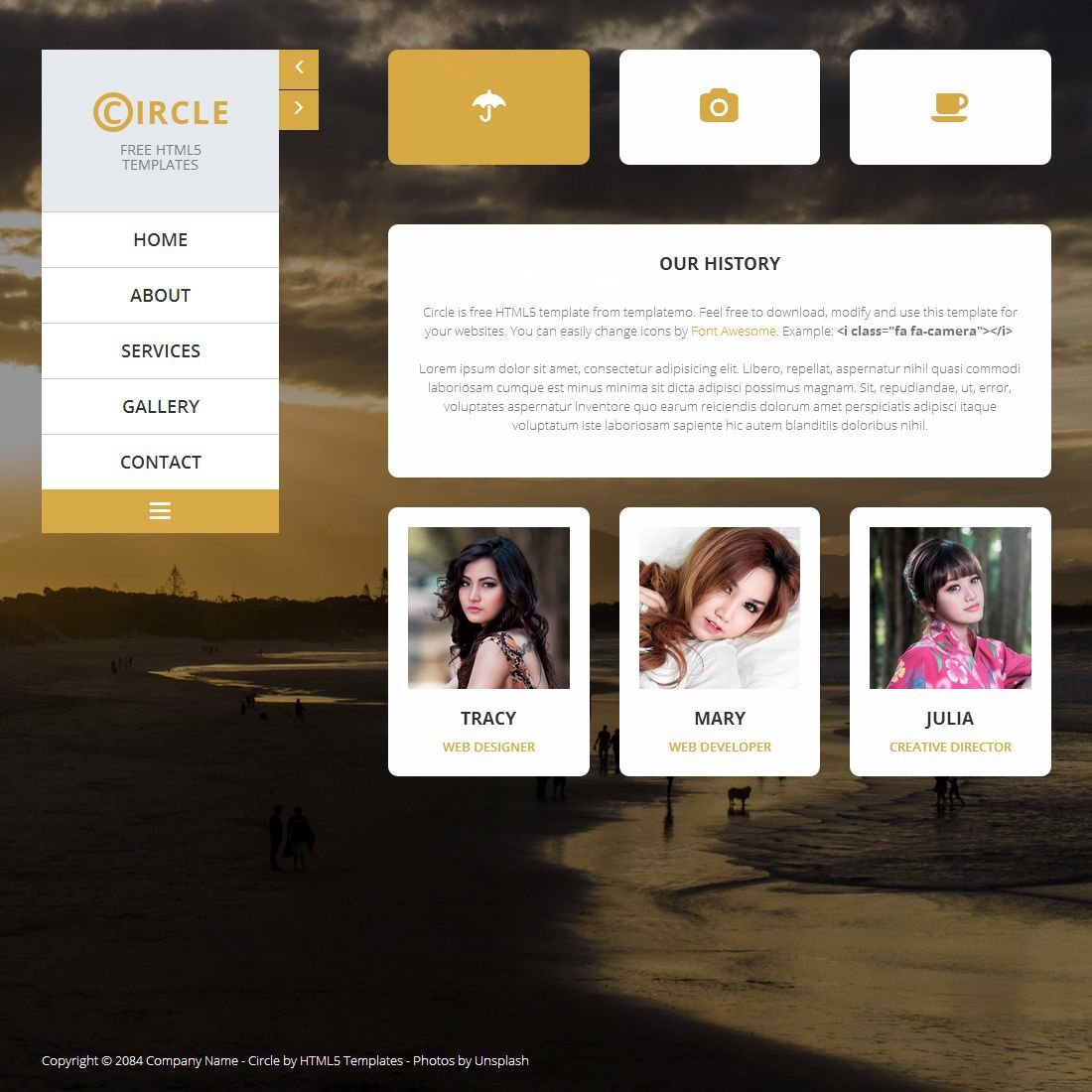 009 Incredible Free Website Template Download Html And Cs For Photo Gallery Inspiration Full