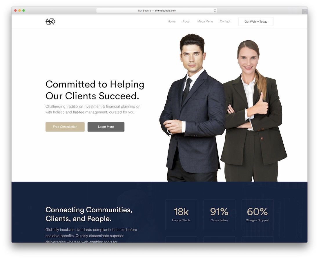 009 Incredible Law Firm Website Template Free Example  WordpresFull