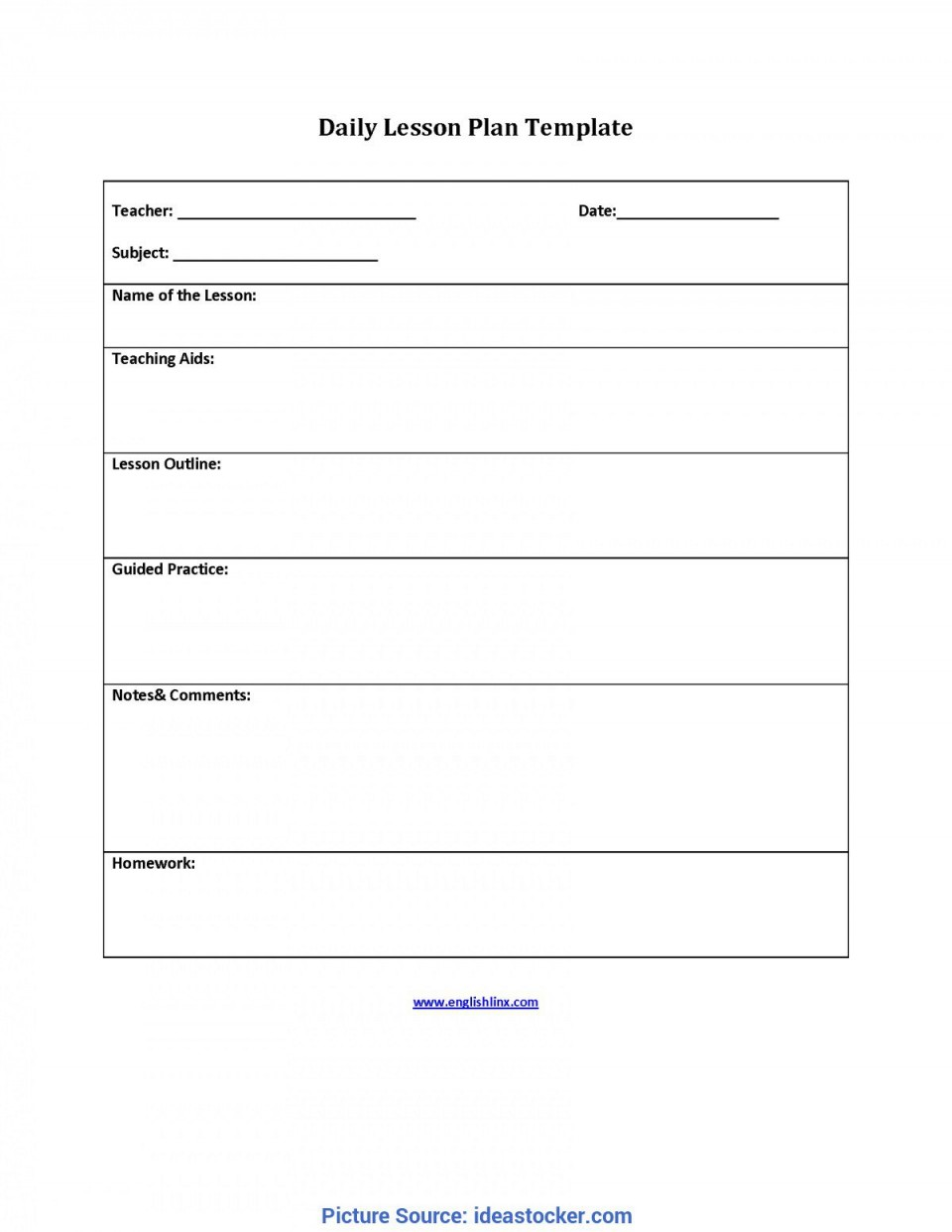 009 Incredible Lesson Plan Outline Template Highest Clarity  Sample Format Pdf Blank Free Printable960