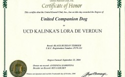 009 Incredible Service Dog Certificate Template Image  Printable Id Free