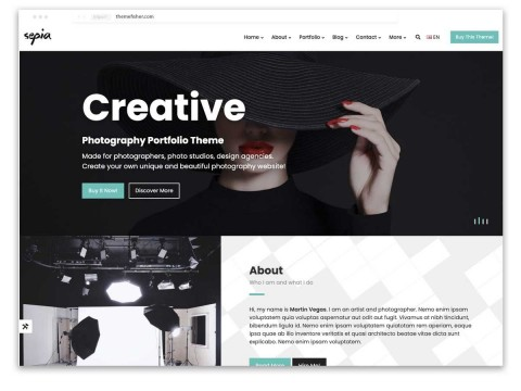009 Incredible Web Template For Photographer Sample  Photography480
