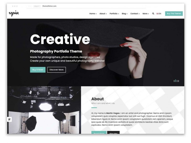 009 Incredible Web Template For Photographer Sample  Photography728