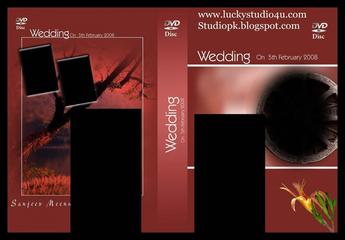 009 Incredible Wedding Cd Cover Design Template Free Download High Definition 1400