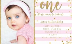 009 Magnificent 1st Birthday Invitation Template Concept  Background Design Blank For Girl First Baby Boy Free Download Indian