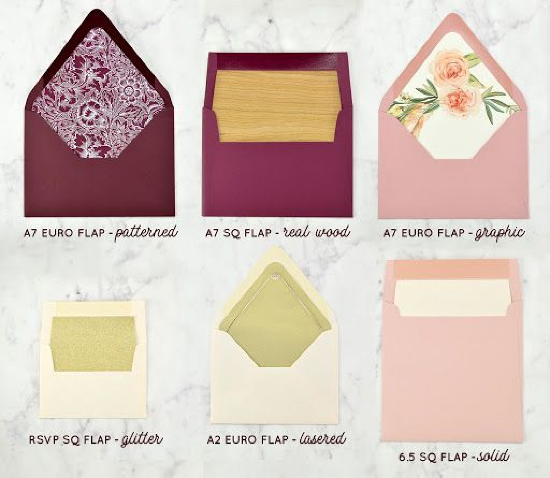 009 Magnificent A7 Square Flap Envelope Liner Template Sample 1920