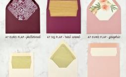 009 Magnificent A7 Square Flap Envelope Liner Template Sample