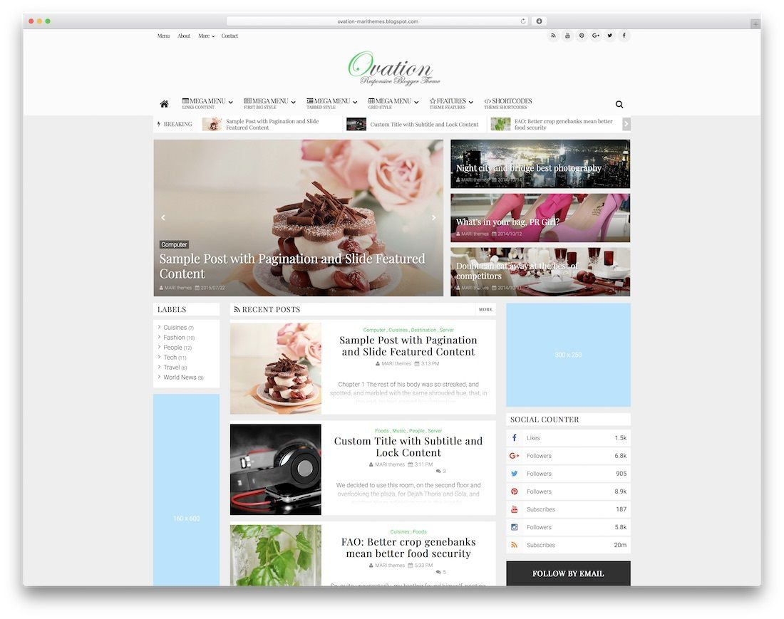 009 Magnificent Best Free Responsive Blogger Template 2015 Concept Full